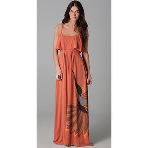 Free People Flock of Birds Long Maxi Gown Dress